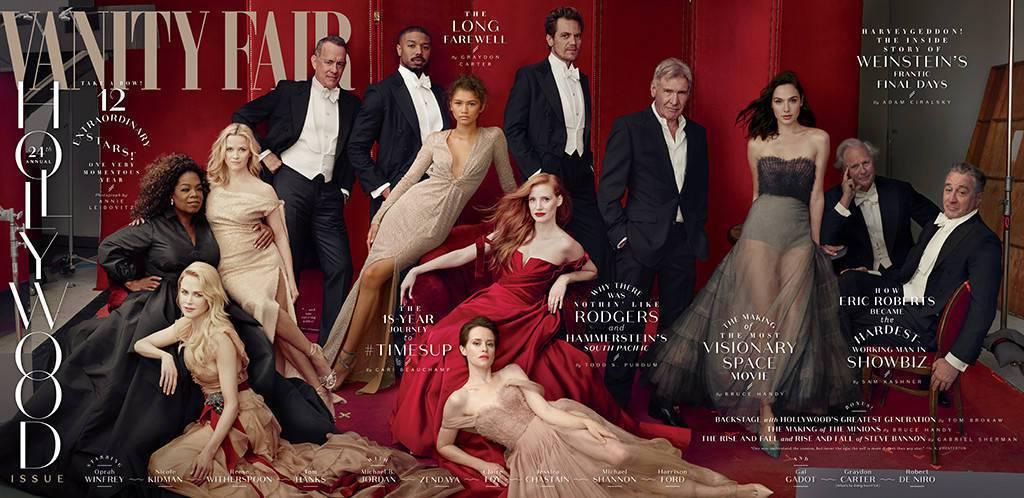 今年度「浮華世界」的「好萊塢」主題封面,大牌雲集。圖/摘自Vanity Fair