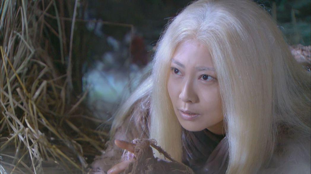 張茜演出「神鵰俠侶」老妝霸氣十足。圖/中天提供