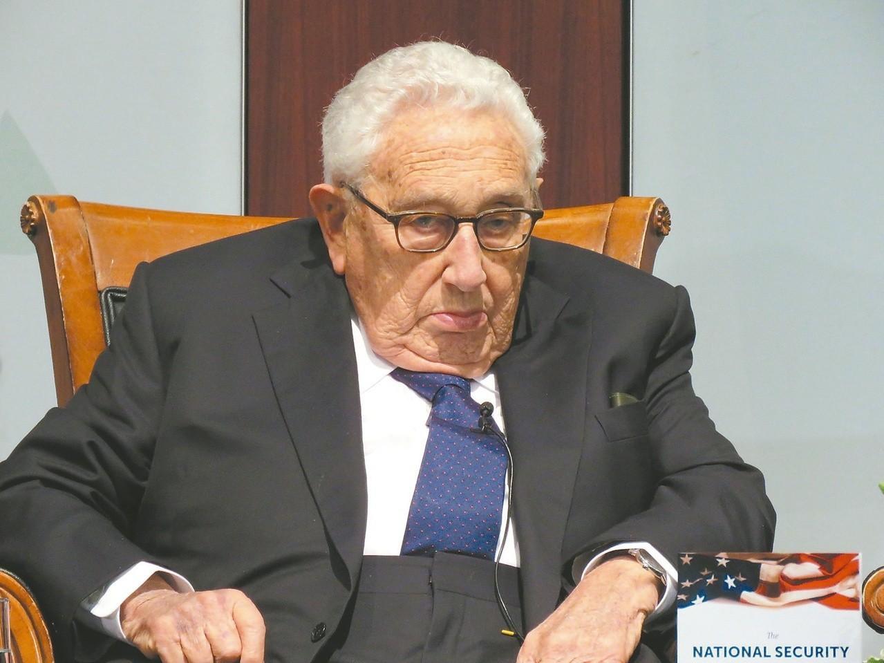 美國前國務卿季辛吉。圖/聯合報系資料照片