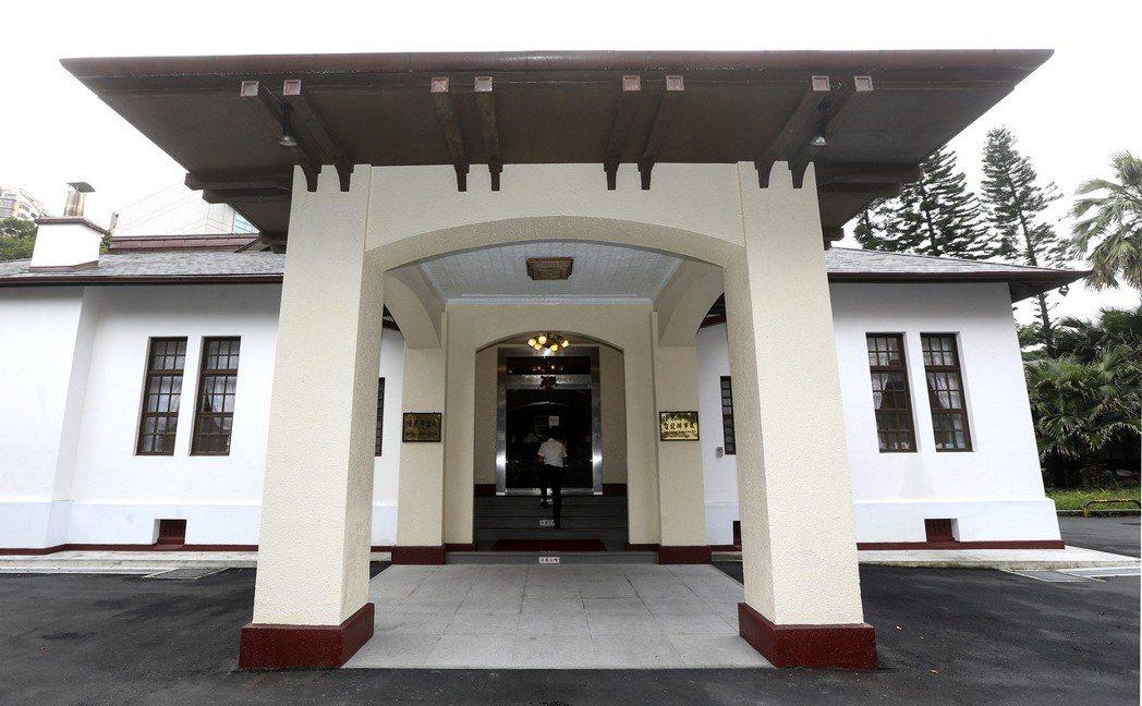 陸軍聯誼廳曾是日本總督與台灣軍司令的官邸。 圖/聯合報系資料照片