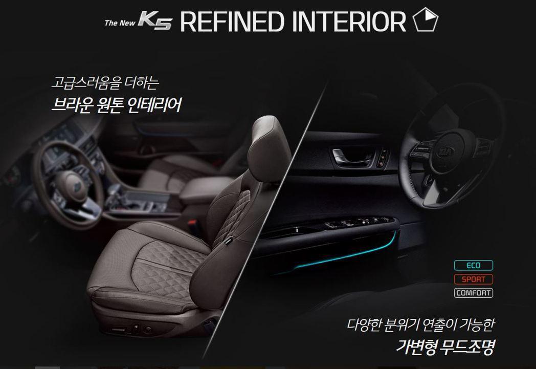 全新Kia K5車室。 摘自Kia