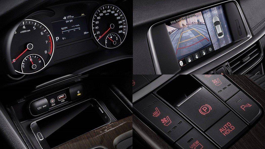 全新Kia K5配有無線充電等功能。