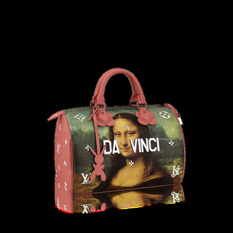 達文西「蒙娜麗莎的微笑」Speedy包款,售價94,000元。圖/LV提供