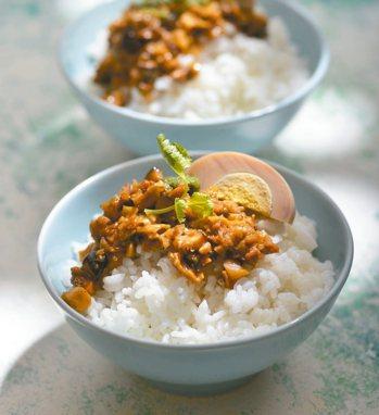 金牌素肉飯 照片:日日幸福/提供