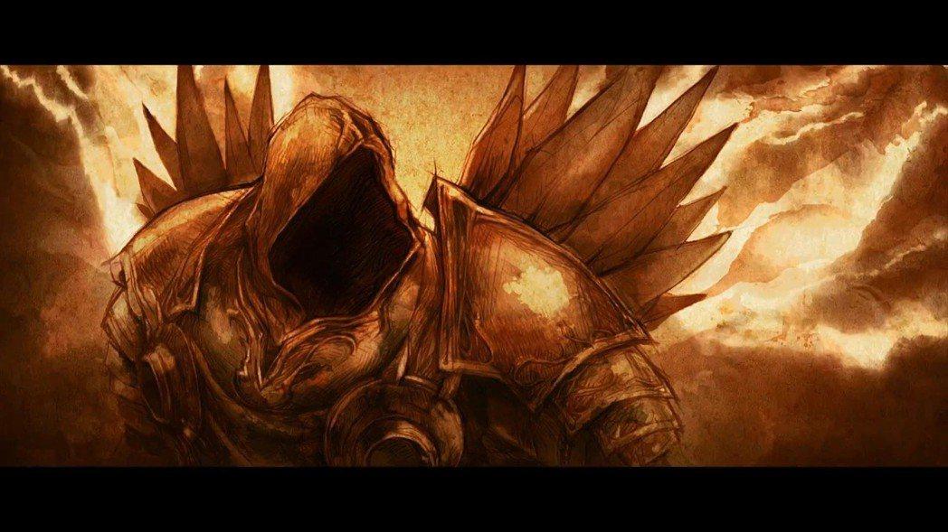 《暗黑破壞神III》開頭動畫中的泰瑞爾