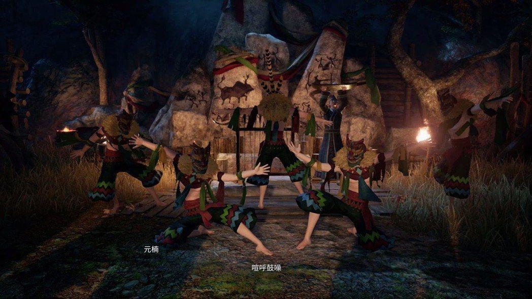 人們跳著舞蹈祭祀著神明,正好對應遊戲名稱神與舞的二重概念。