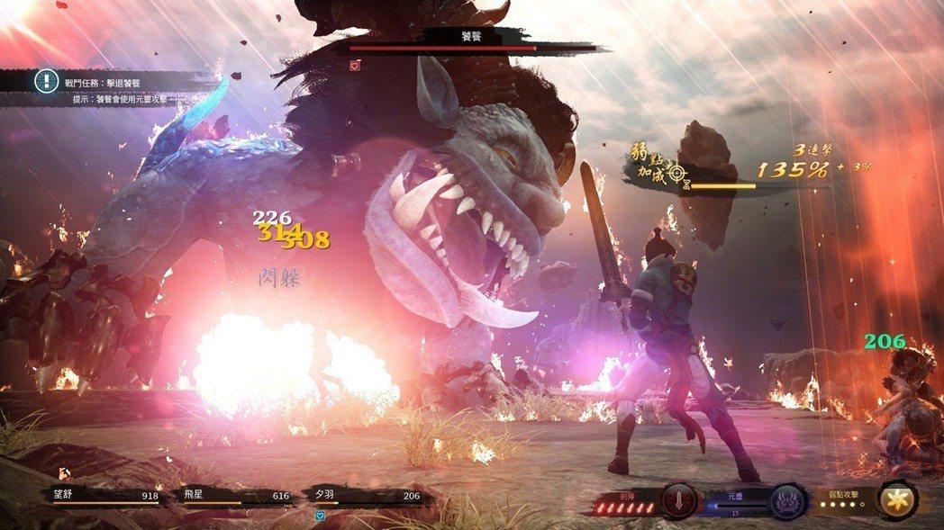關卡頭目大多需要特殊戰法獲勝,透過劍陣或元靈招式屬性重創對方。