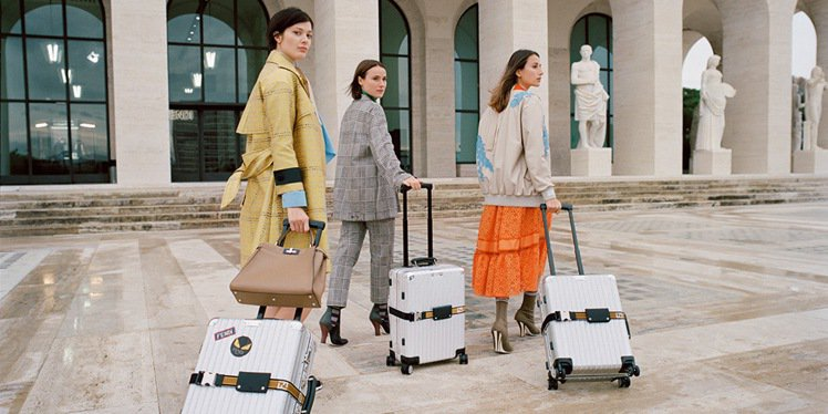 RIMOWA在去年與精品品牌Fendi推出聯名行李箱,叫好又叫座。圖/摘自RIM...