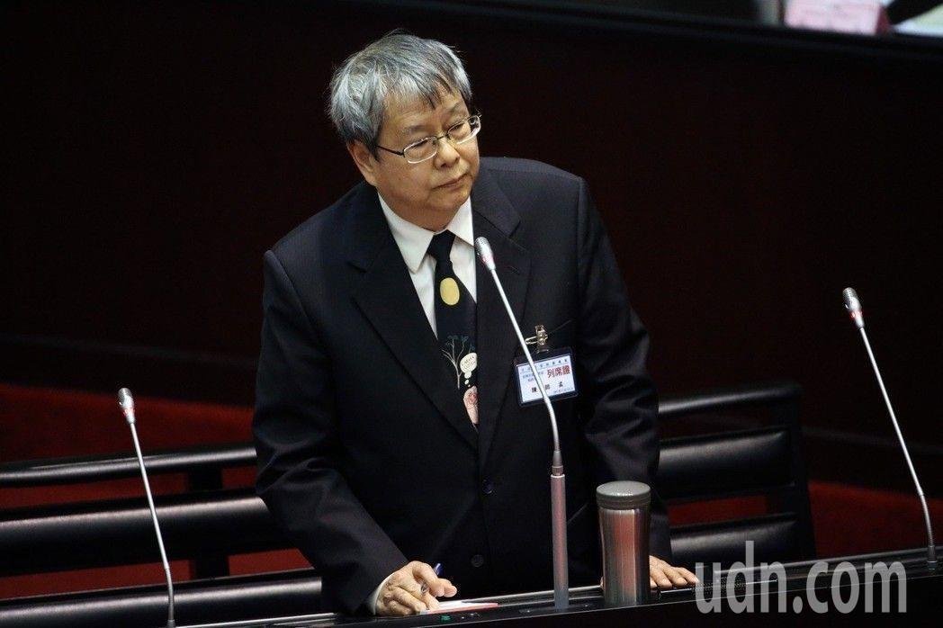 陳師孟29日將報到、就任監察委員。 圖/聯合報系資料照片