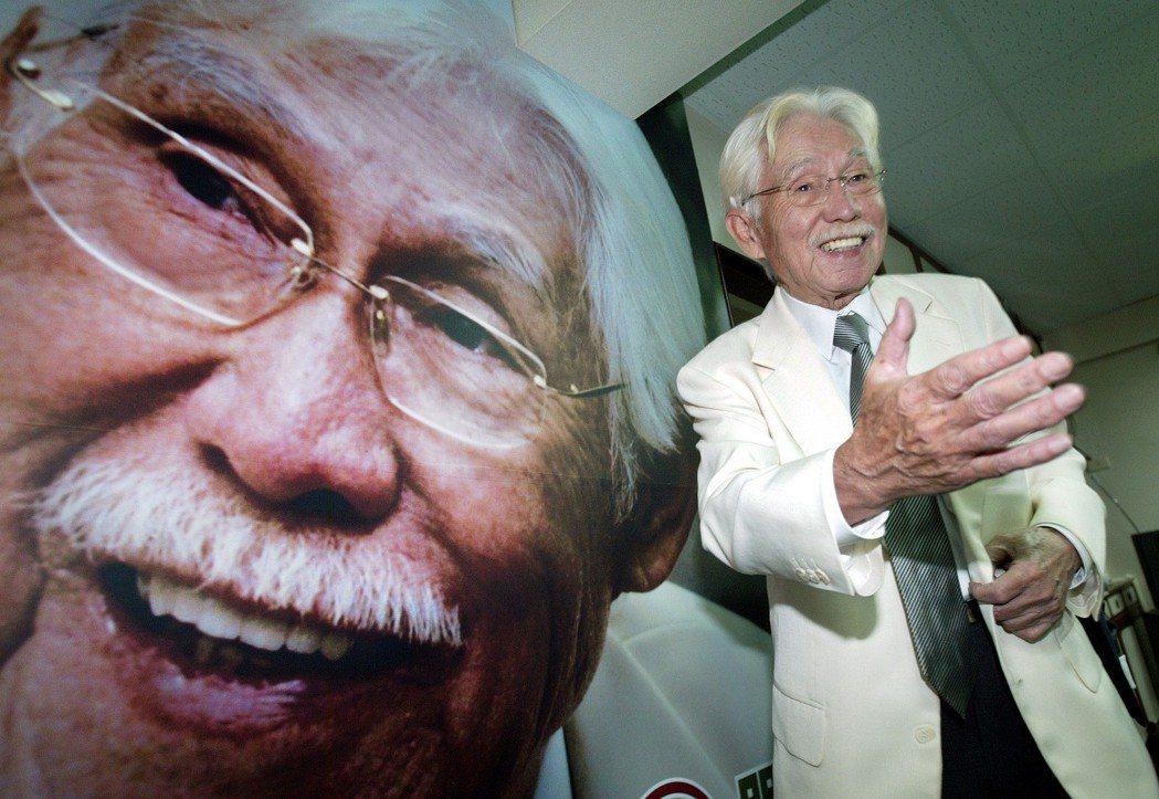 2008年,獨派大老辜寬敏競選民進黨黨主席。 圖/聯合報系資料照片