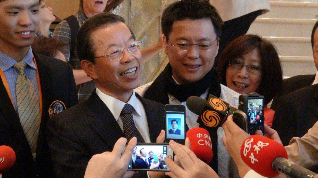 2012年,前行政院院長謝長廷訪問大陸。 圖/聯合報系資料照片