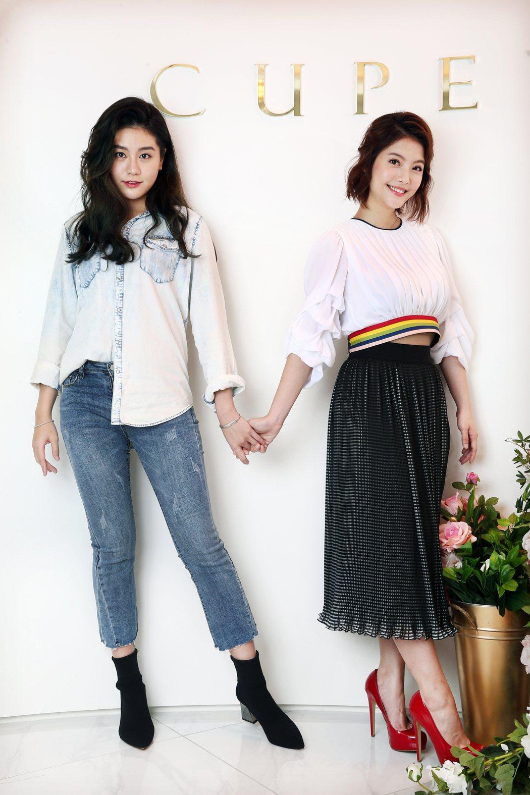 小蠻(左)與王樂妍(右)專訪。記者蘇健忠/攝影