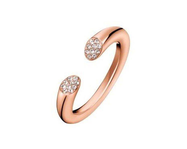 CALVIN KLEIN Brilliant飾品系列戒指,約2,600元。圖/C...