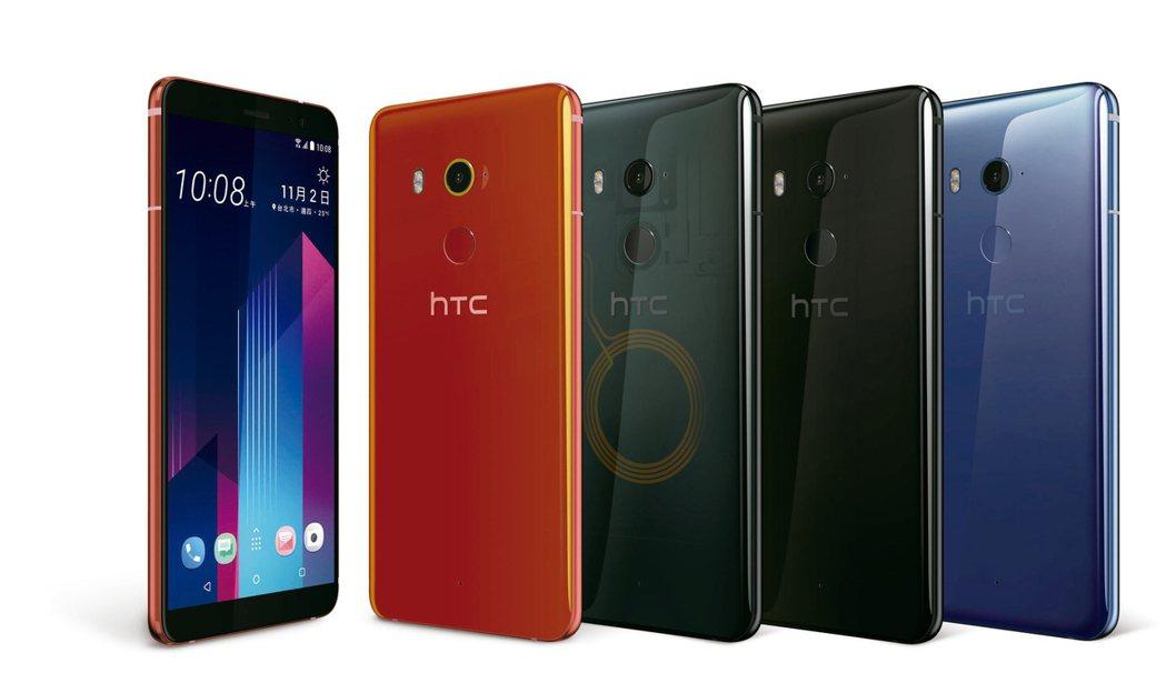 圖為HTC U11+。 本報系資料庫