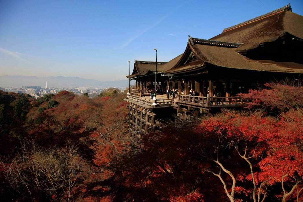 日本京都清水寺。新華社