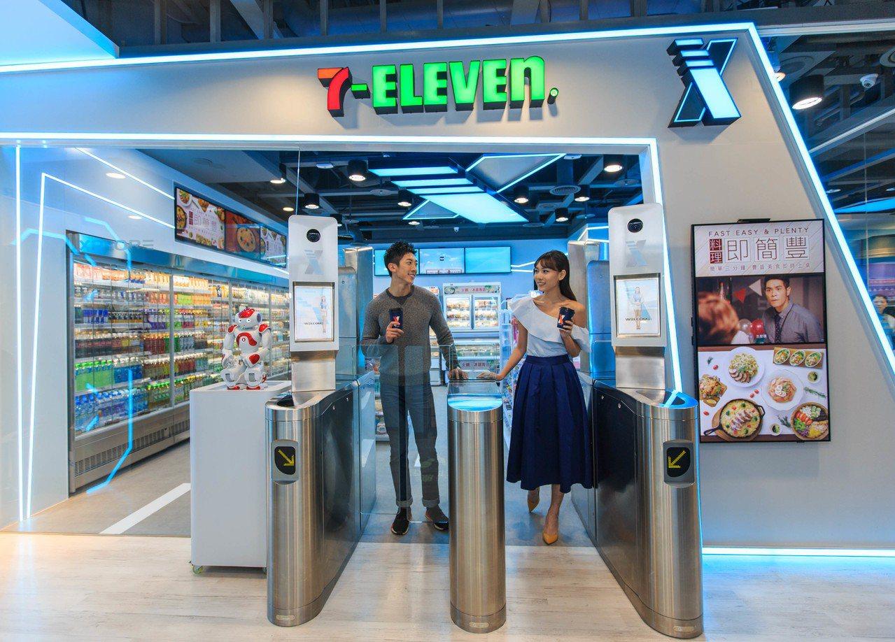 台灣首間7-ELEVEN無人商店「X-STORE」。 圖/統一超商提供