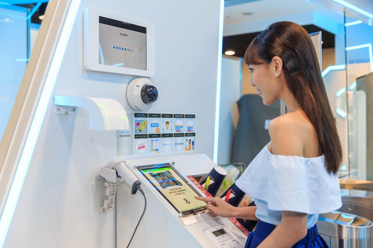 藉由新科技辨識商品技術,呈現自助結帳新體驗。 圖/統一超商提供