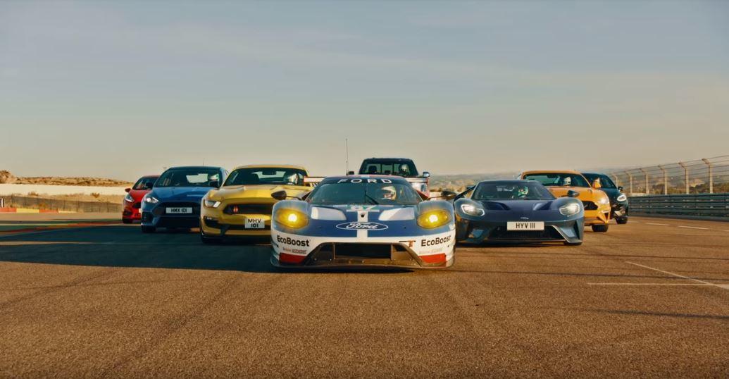 參賽的8台車。 摘自Ford Performance