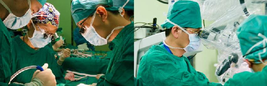 左圖/楊志權醫師(圖右)堪稱此行最核心的關鍵醫師之一,不僅負責手術中許多重要環節...
