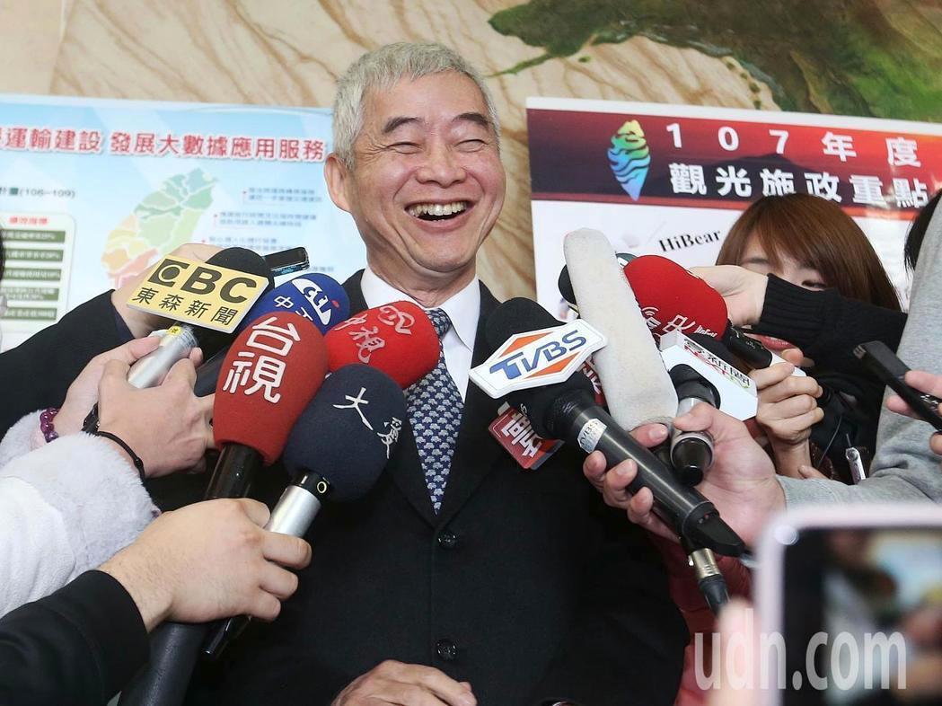 交通部長賀陳旦。記者楊萬雲/攝影