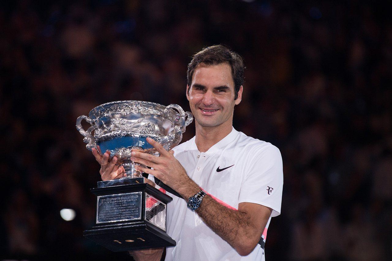 勞力士代言人費德勒(Roger Federer)勇奪2018年澳洲網球公開賽錦標...