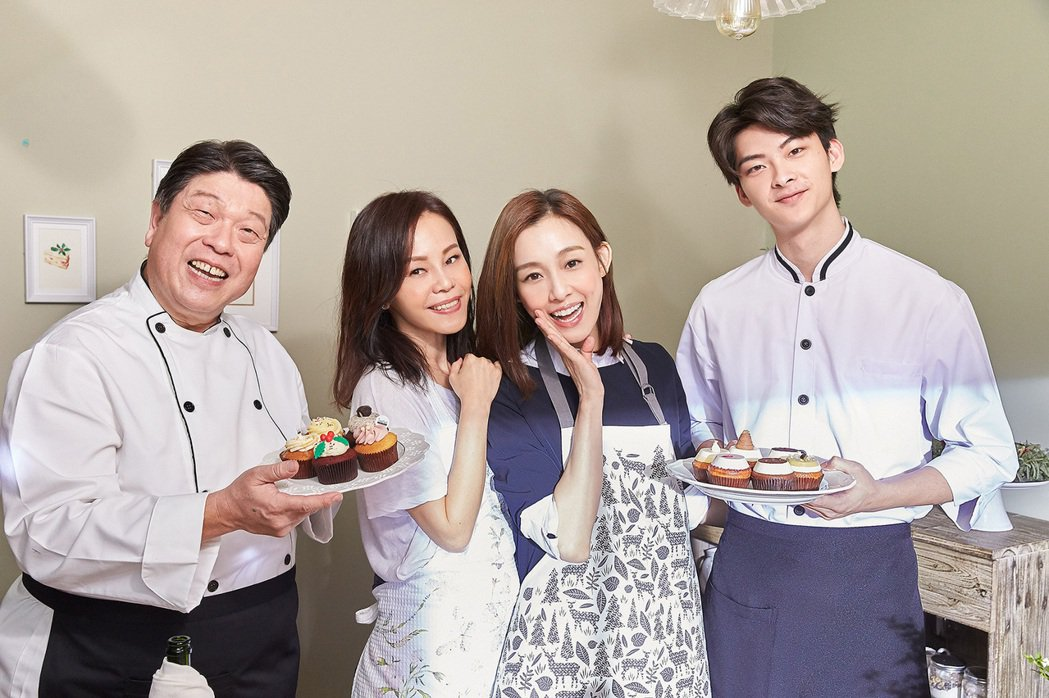 彭佳慧和范瑋琪與羅北安(左)、鮮肉演員王亭勻(右)出演「我們真的幸福了嗎」MV。