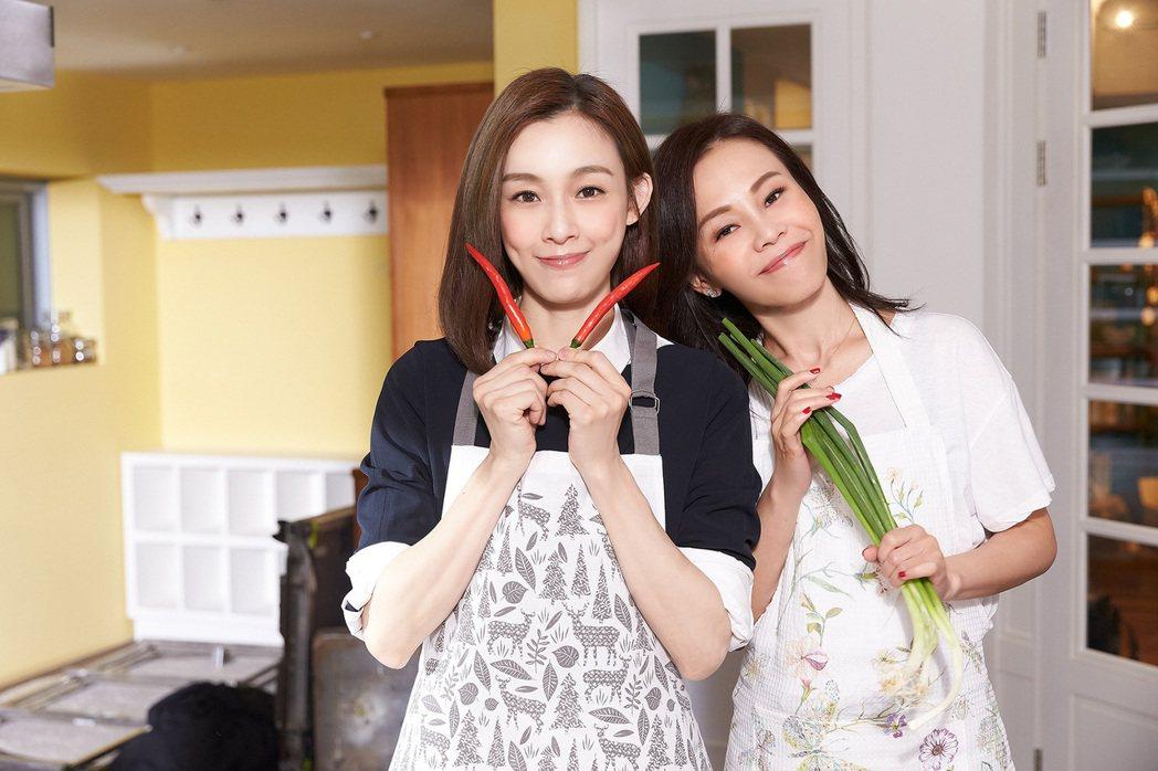 彭佳慧和范瑋琪(左)攜手合唱「我們真的幸福了嗎」。圖/索尼音樂提供