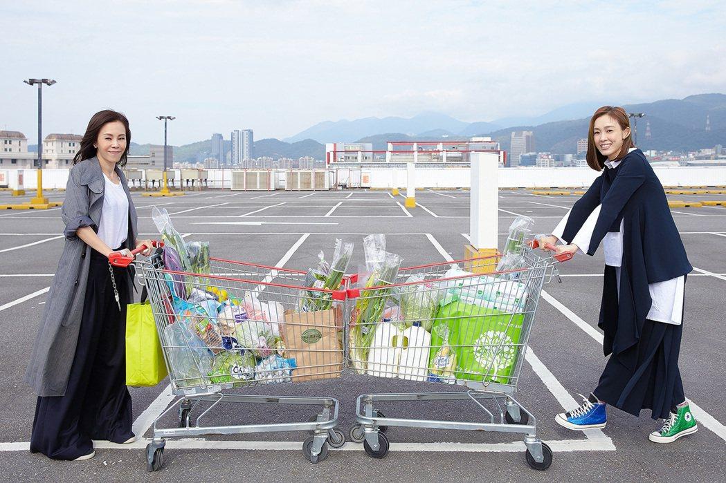 彭佳慧和范瑋琪(右)攜手合唱「我們真的幸福了嗎」。圖/索尼音樂提供