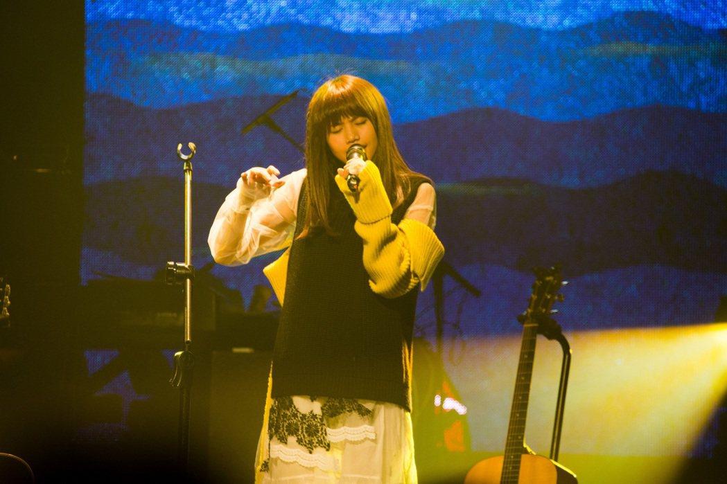 吳汶芳回家鄉高雄開唱。圖/福茂唱片提供