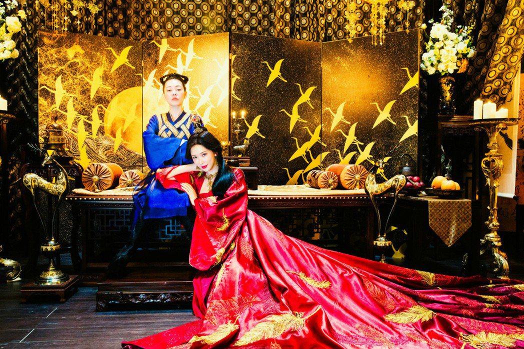 「吃吃的愛」小S與林志玲鬥戲也競艷,將在大年初一晚間9點首播。圖/衛視電影台提供