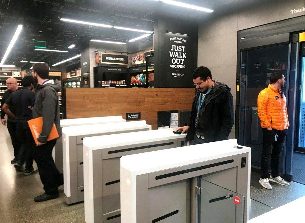 亞馬遜首家無人商店Amazon Go在美國西雅圖開張。 路透