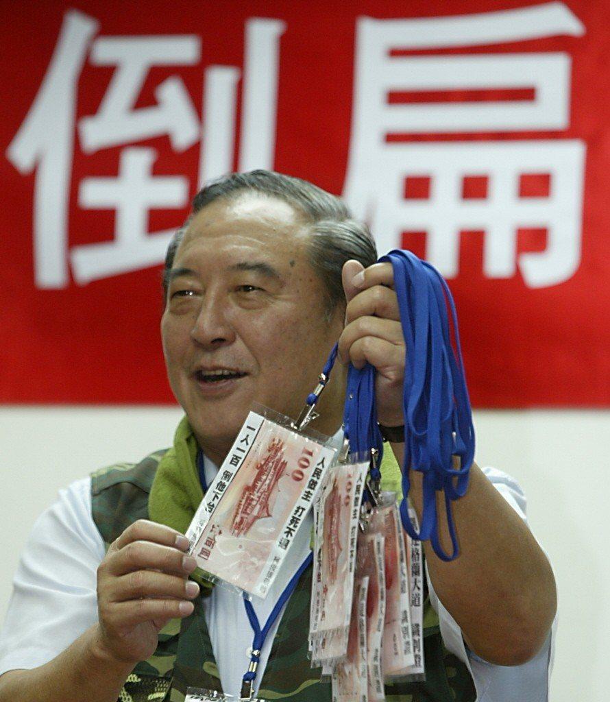 前立委柯俊雄影帝從政,塑造國軍英雄形象,獲得不少選票。 圖/聯合報系資料照片