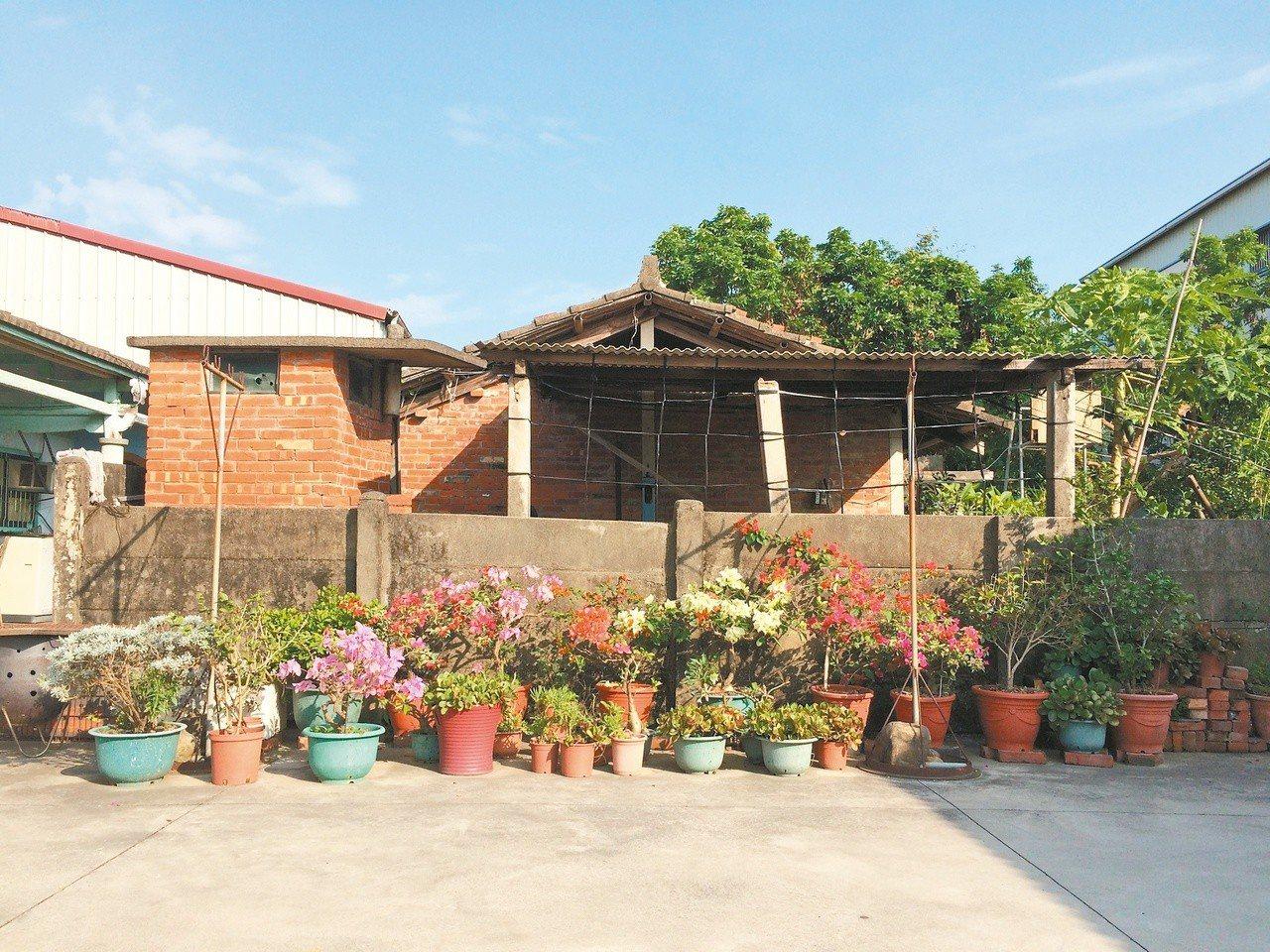 阿媽家的廟埕,童年的遊樂地。