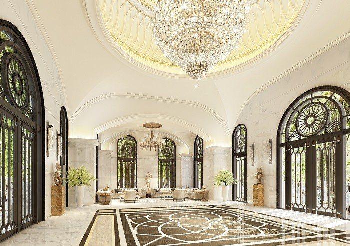 建築設計為新古典ART DECO美學,打造帝寶式穹頂建築。 圖/愛山林提供