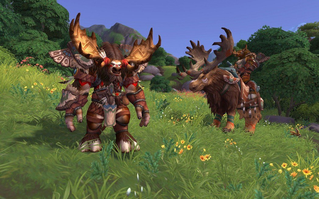 《魔獸世界:決戰艾澤拉斯》全新同盟種族高嶺牛頭人與坐騎