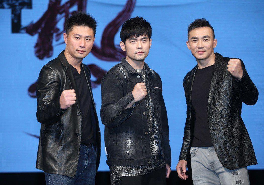 劉畊宏(右)與周杰倫(中)被爆投資關係生變。 圖/聯合報系資料照