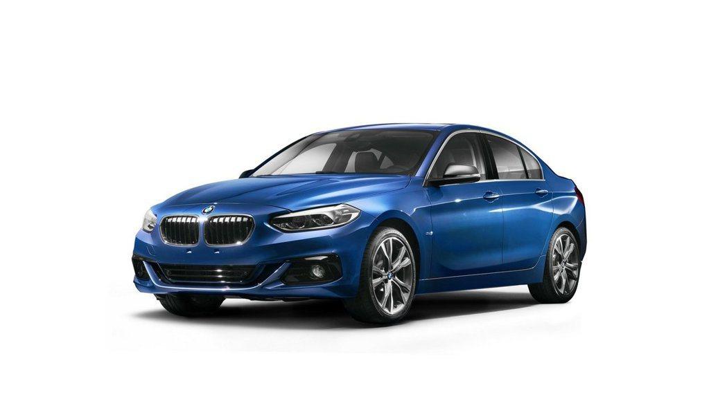 中國限定BMW 1 sedan。 摘自BMW