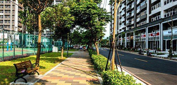 超級城市造鎮綠覆率高,環境良好。 圖/SUPER讚 提供