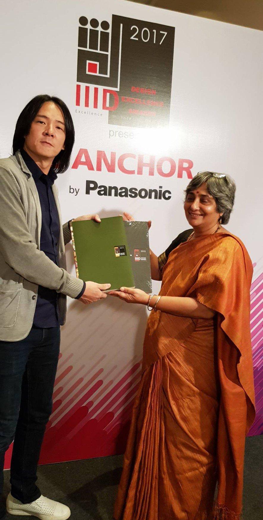 (圖)IIID印度室內設計協會頒贈感謝狀給周總監