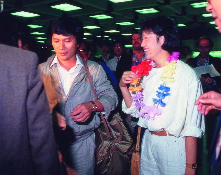 李永得(左)與徐璐(右)是1949後,台灣第一批前進中國採訪的記者,回台後受到熱...