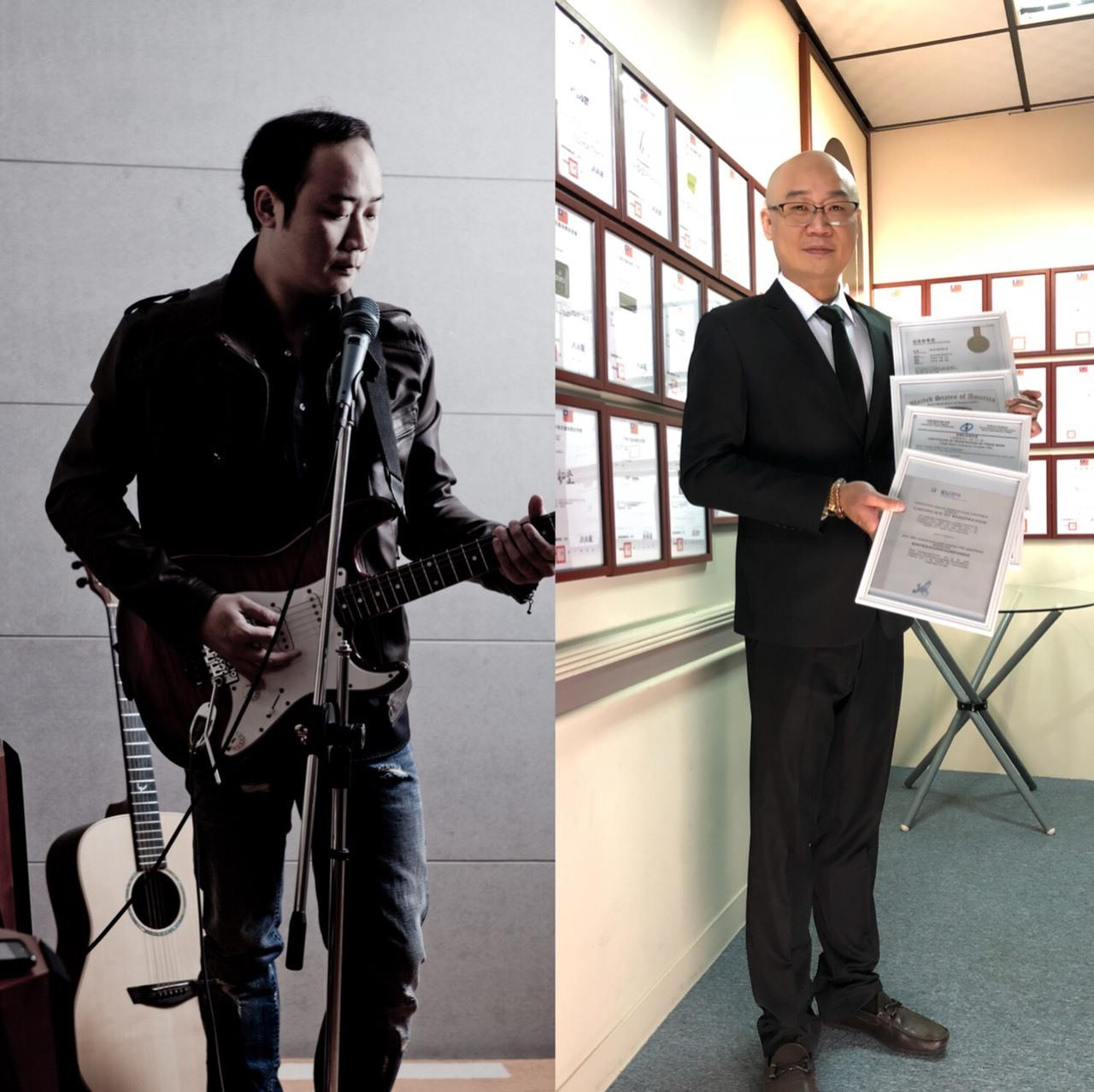 搖滾吉他手演變智財界的馮迪索。圖/玄奘大學提供