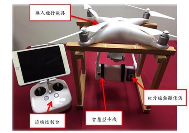 無人機搭載紅外線熱顯像鏡頭 圖/內政部提供