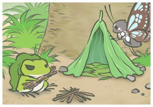 《旅行青蛙》一夕爆紅,全台掀起曬青蛙四處旅遊明信片的旋風。圖/手機遊戲頁面截圖