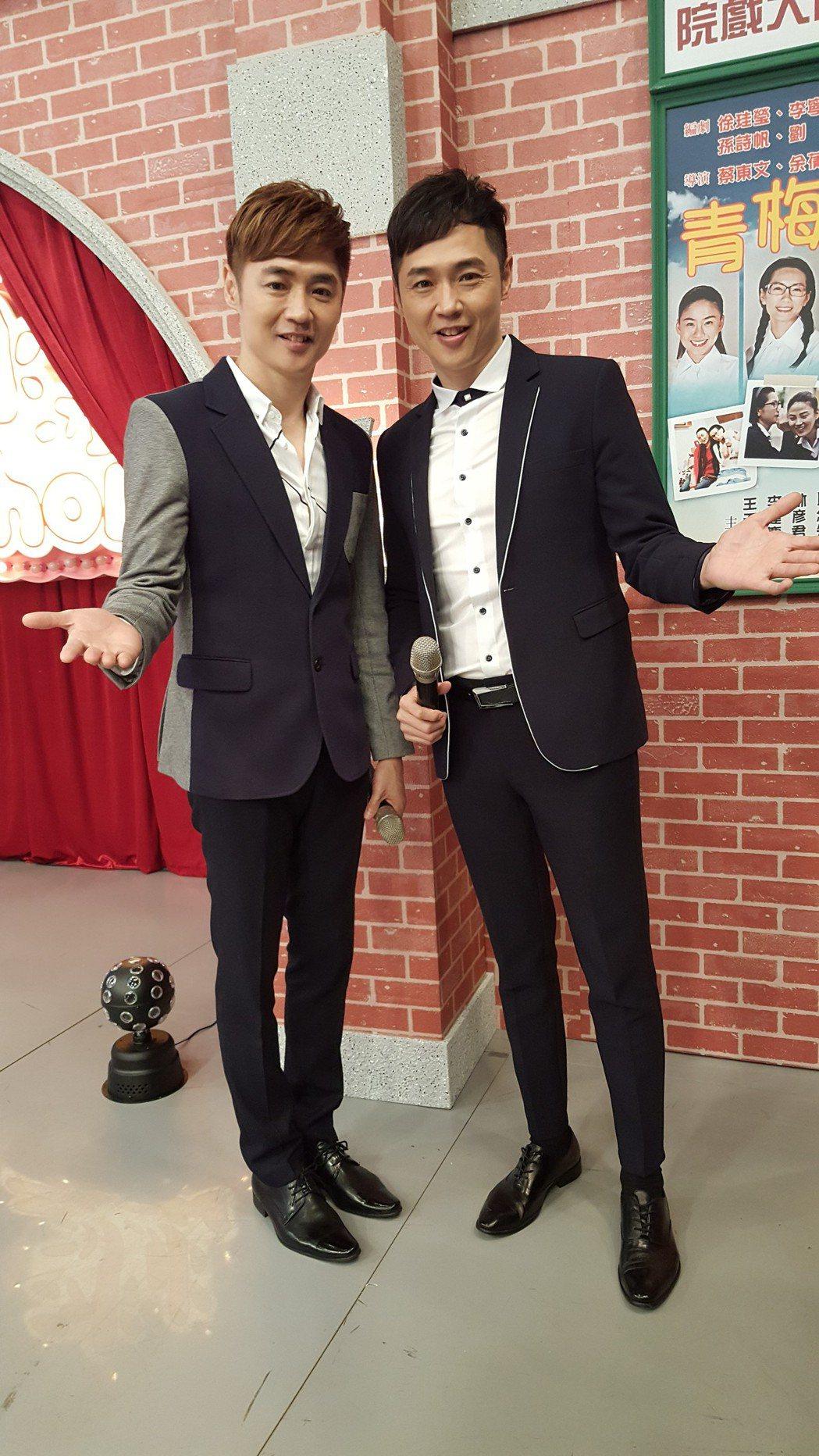 宋逸民(左)和宋達民今錄中視「冰冰Show」。記者林怡秀/攝影