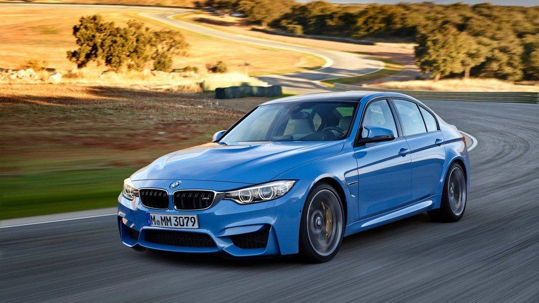 BMW F80 M3。 摘自BMW