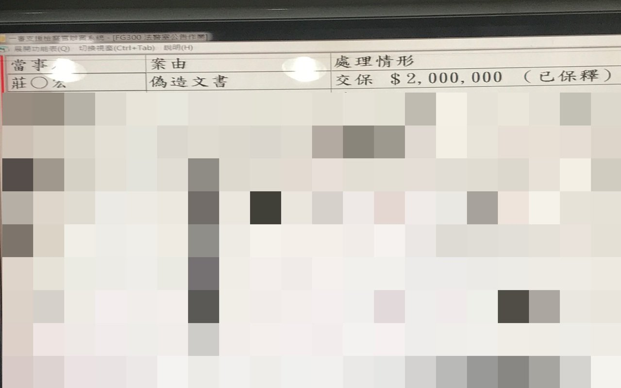 莊姓負責人訊後被依偽造文書罪嫌,200萬元交保。記者林伯驊/翻攝