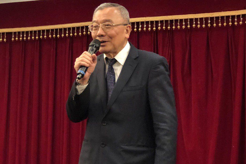中油董事長戴謙今天舉行記者會。記者高詩琴/攝影