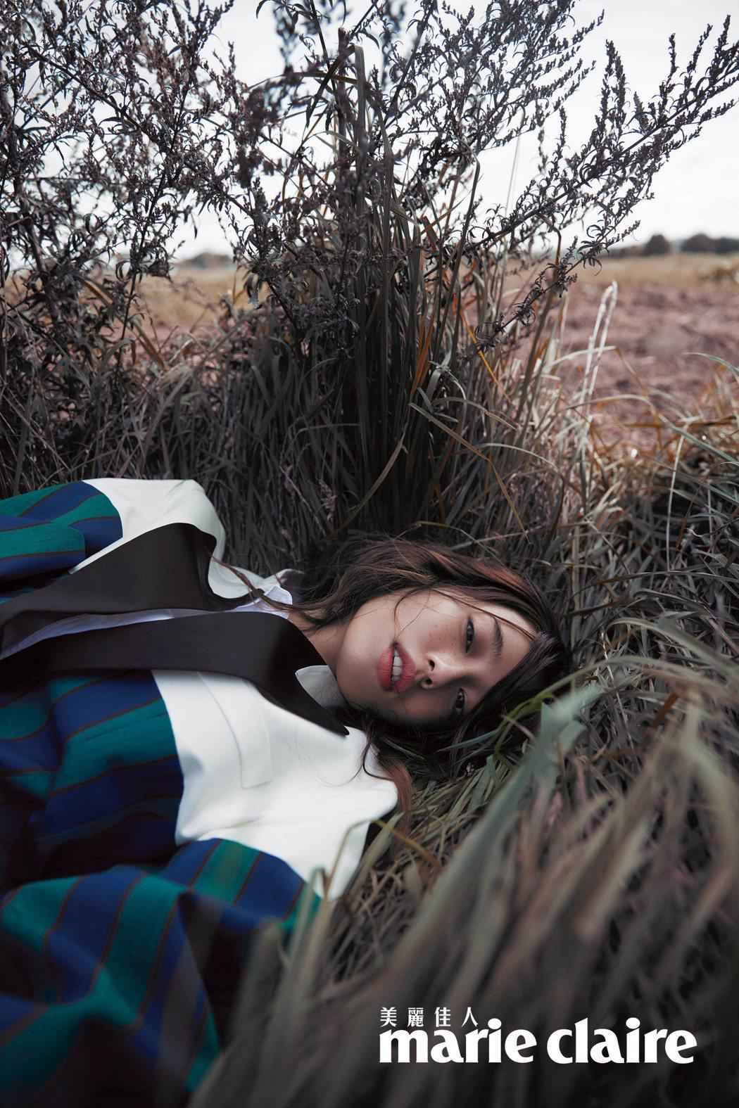 陳庭妮期待平凡的感情與生活。圖/Marie Claire美麗佳人提供