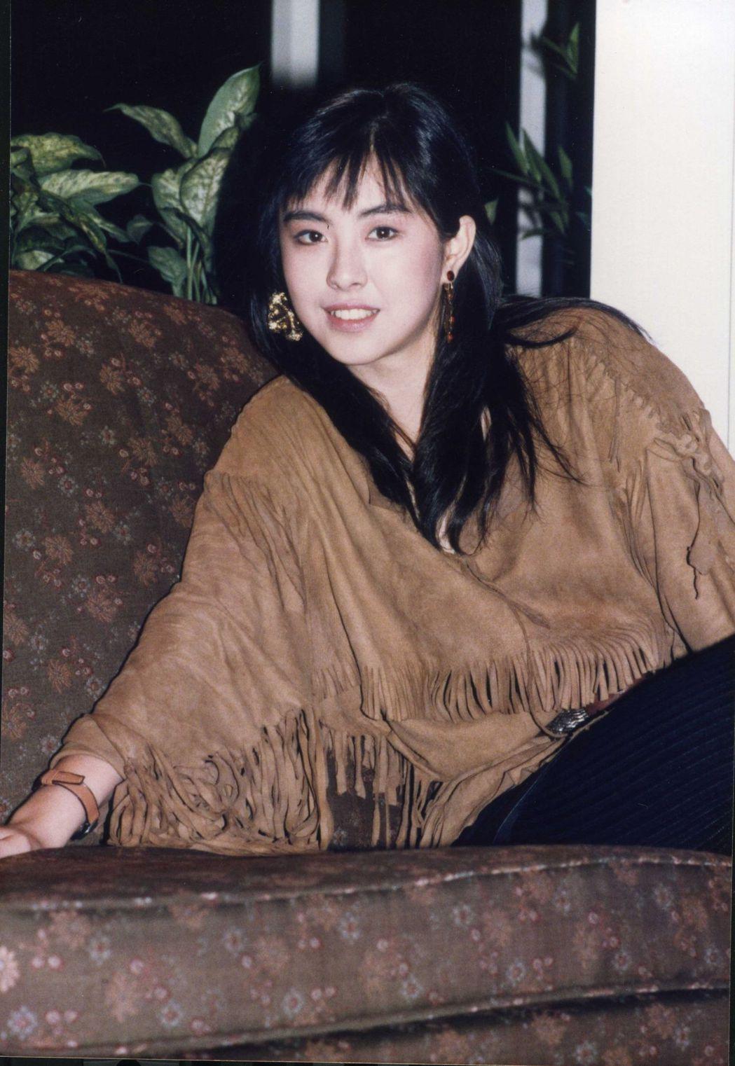 年輕時的王祖賢是影壇當紅漂亮寶貝。圖/報系資料照片