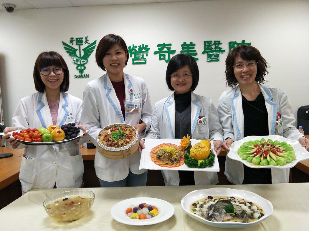 年關近,柳營奇美醫院推出健康年菜,希望民眾健康過好年。記者謝進盛/攝影